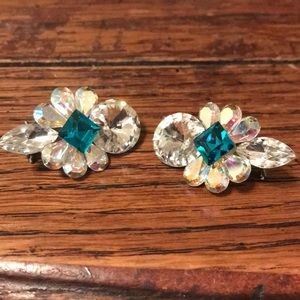 Jewelry - earrings: AB, rivoli, emerald & marquise Stones